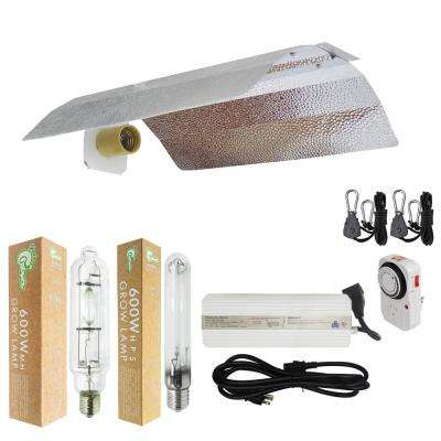600-Watt HPS/MH Grow Light System with 19 in. Basic Wing Reflector