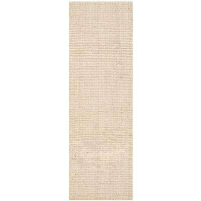Natural Fiber Ivory 2 ft. 3 in. x 19 ft. Runner Rug