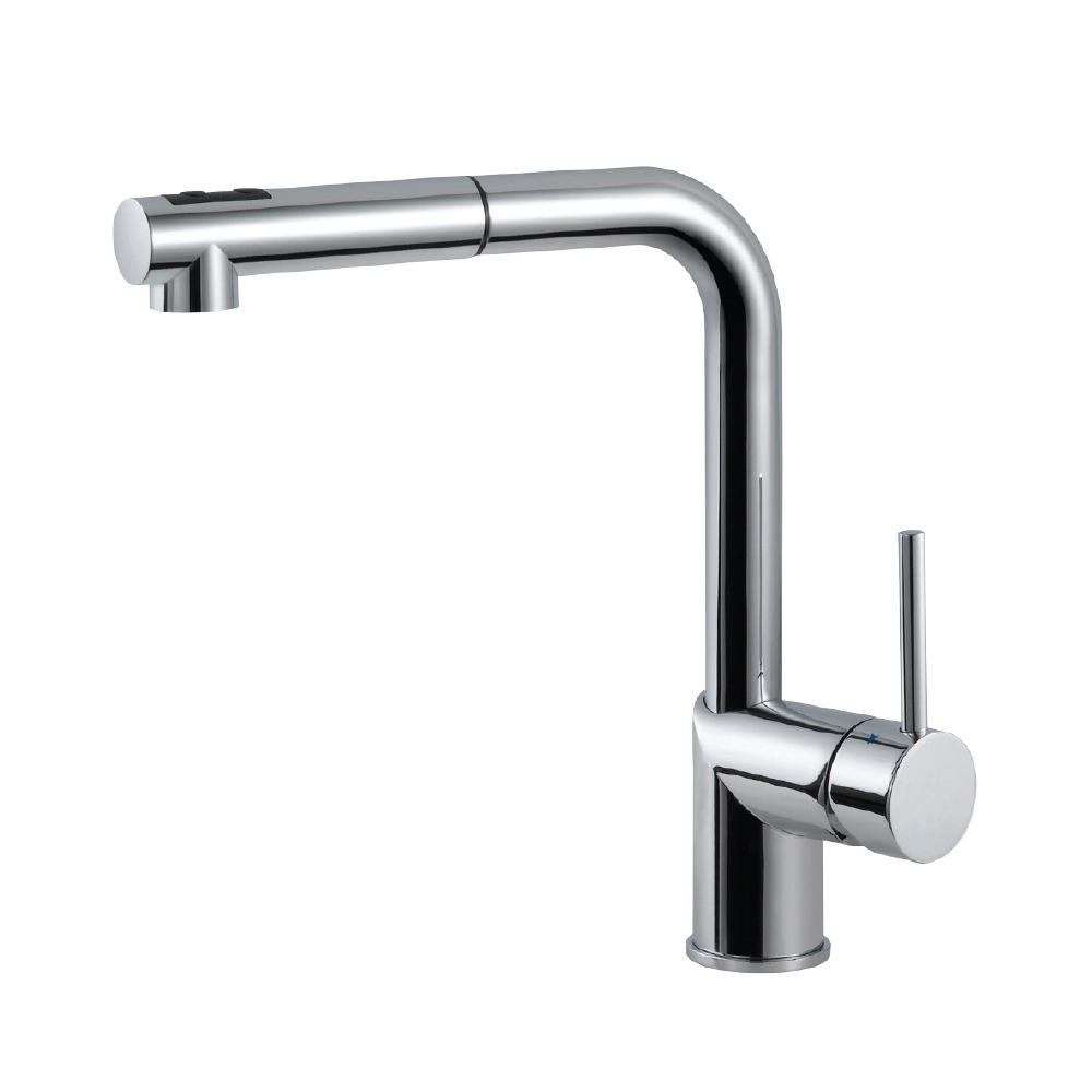 HOUZER Vitale Single-Handle Pull Out Sprayer Kitchen Faucet with ...