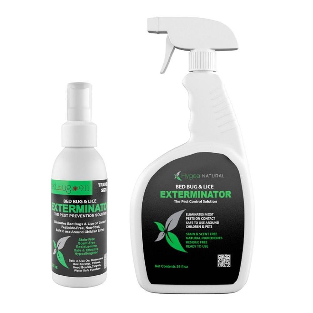 Hygea Natural 24 oz. Bed Bug Spray and 3 oz. Bed Bug Travel Spray Combo