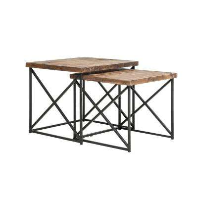 Argos Natural and Black Nesting Table
