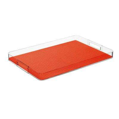 Fishnet Peach Echo Rectangular Serving Tray