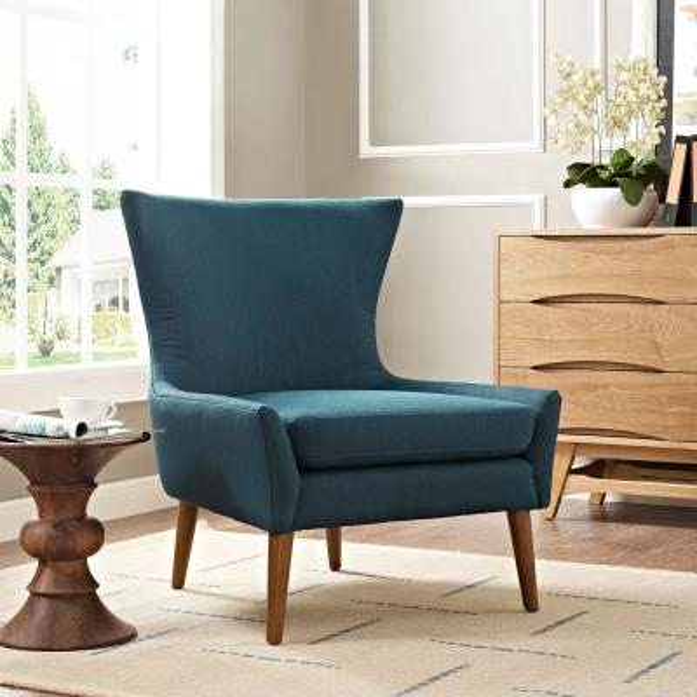 Keen Azure Upholstered Fabric Armchair