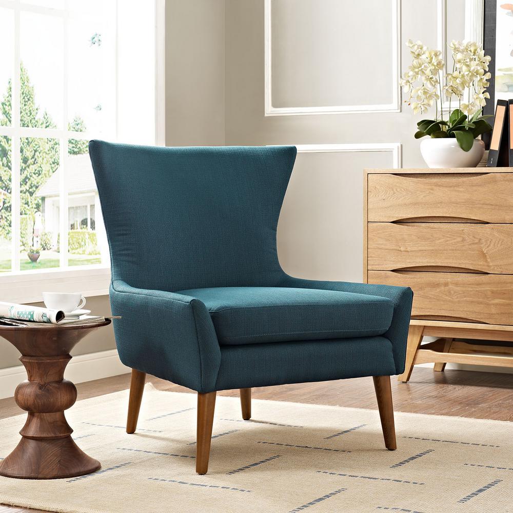 MODWAY Keen Azure Upholstered Fabric Armchair EEI-2459-AZU