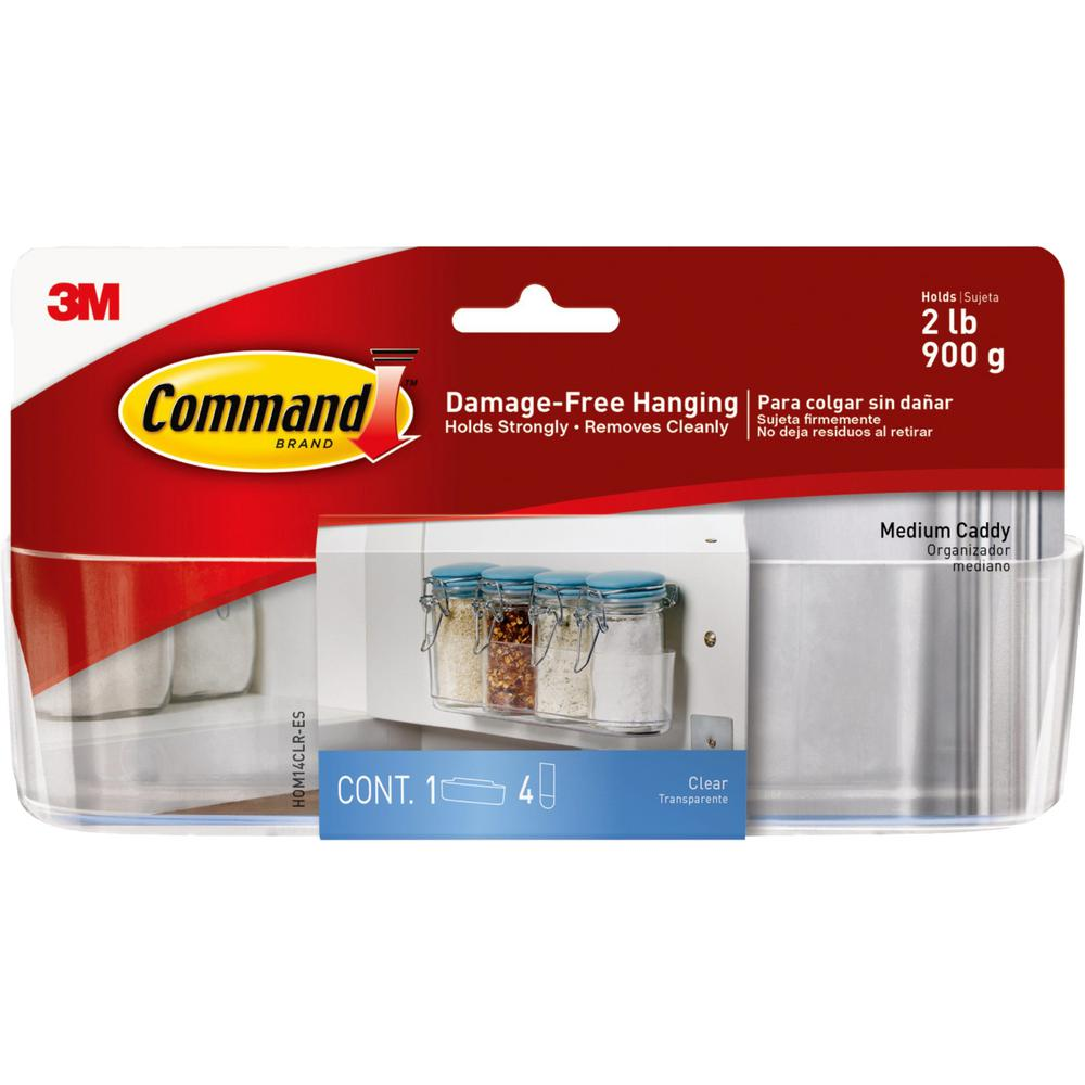 Command Clear Medium Caddy with Clear Strips (1-Caddy) (4-Strips)