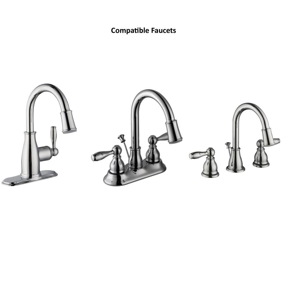 Glacier Bay Mandouri 1 2 Gpm Led Bathroom Sink Faucet Aerator In Chrome Rp90124 The Home Depot