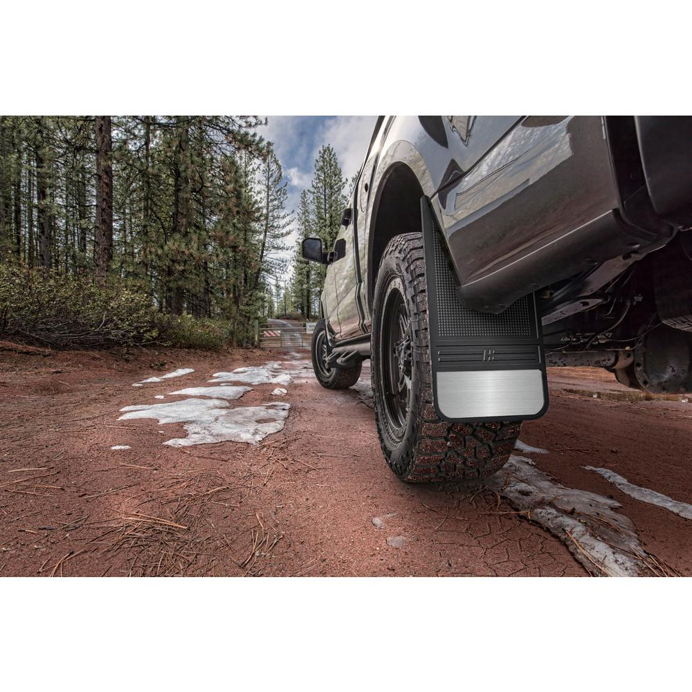 Husky Liners Rubber Front Mud Flaps 12in W Weight 55001 The Home Depot