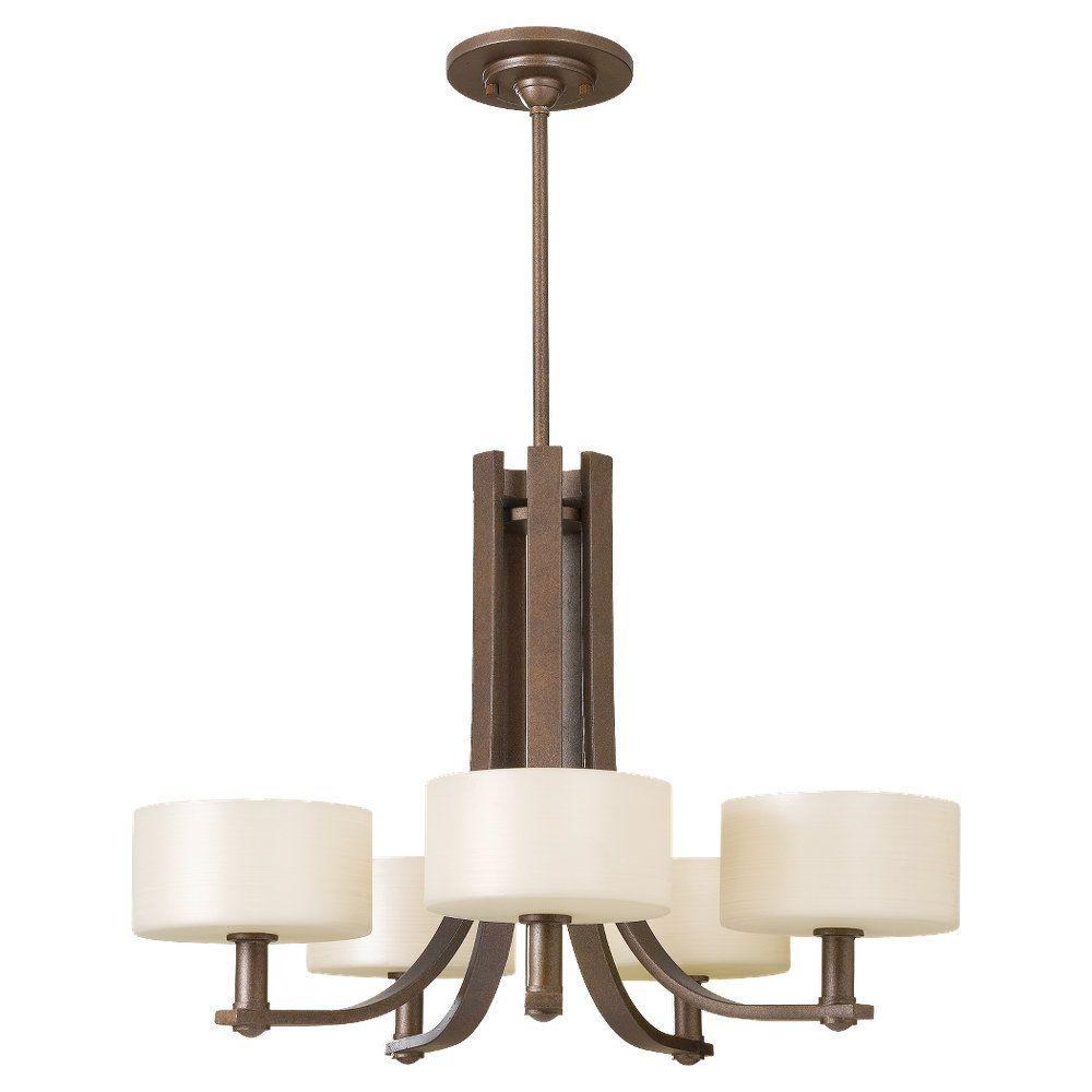 Sunset Drive 5-Light Corinthian Bronze 1-Tier Chandelier Shade