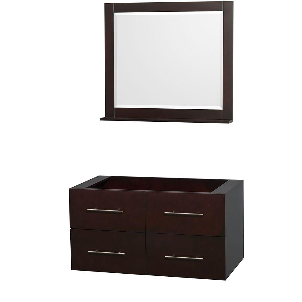 Centra 41 in. Vanity Cabinet with 36 in. Mirror in Espresso