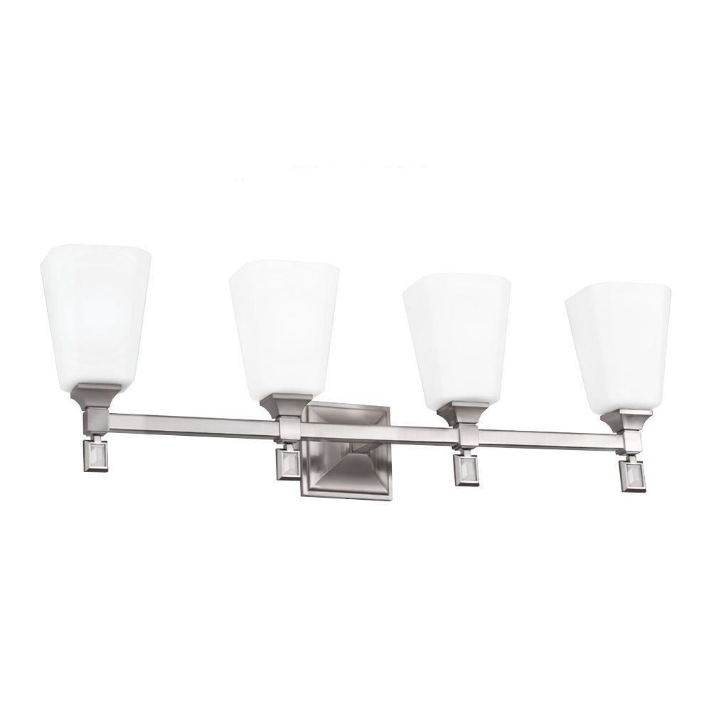 Feiss Sophie 4-Light Brushed Steel Vanity Light