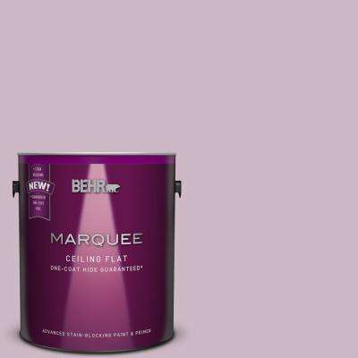 1 gal. #S110-3 Tinted to Queens Violet One-Coat Hide Flat Interior Ceiling Paint and Primer in One