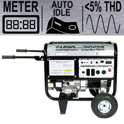 Platinum Series 6,000-Watt Gasoline Powered Portable Generator with CARB