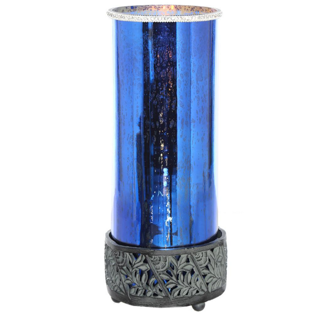 14.75 in. Blue Table Lamp