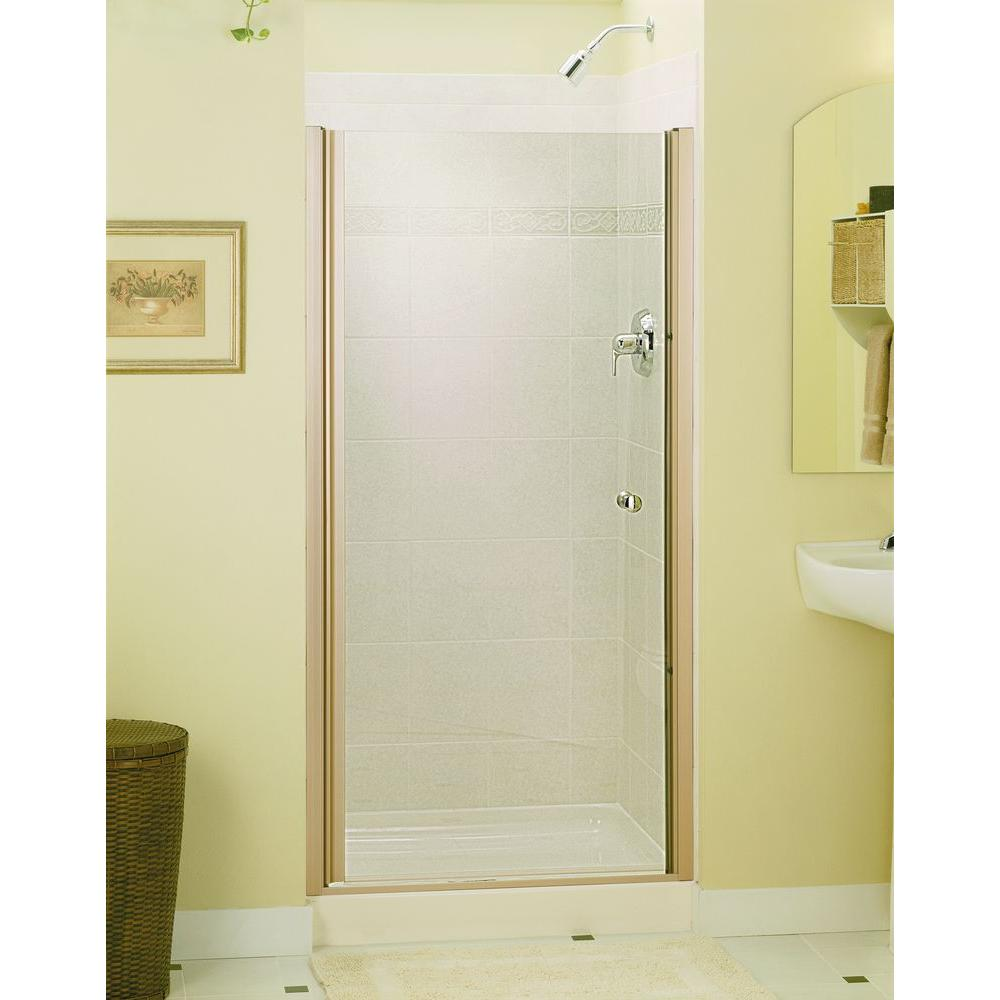 STERLING Finesse 34 in. x 65-1/2 in. Semi-Frameless Pivot Shower Door in Nickel with Handle-6305-34N - The Home Depot  sc 1 st  The Home Depot & STERLING Finesse 34 in. x 65-1/2 in. Semi-Frameless Pivot Shower ... pezcame.com