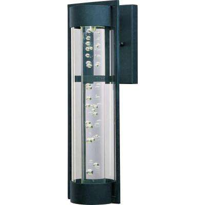 New Age LED 1-Light Textured Ebony Outdoor Wall Mount