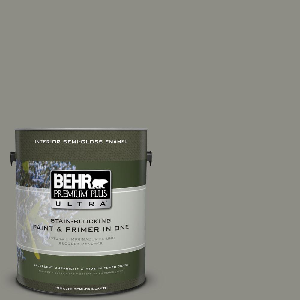 BEHR Premium Plus Ultra 1-gal. #N370-5 Incognito Semi-Gloss Enamel Interior Paint