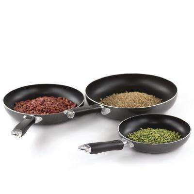 3-Piece Aluminum Frying Pan Set