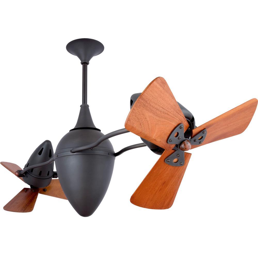 Nevaeh 48 in. 6-Blade Bronze Ceiling Fan