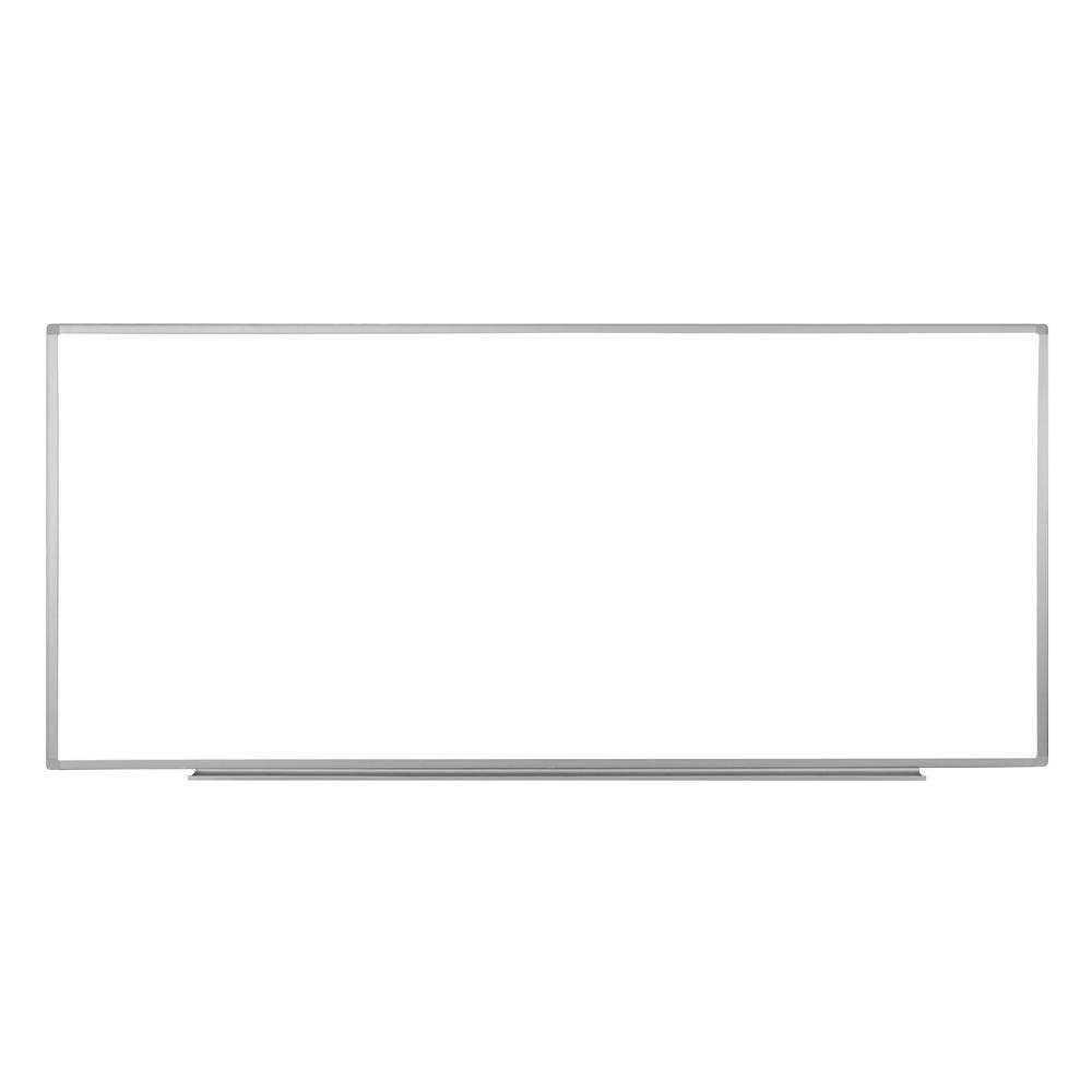 96 in. x 40 in. Wall-Mounted Magnetic Whiteboard