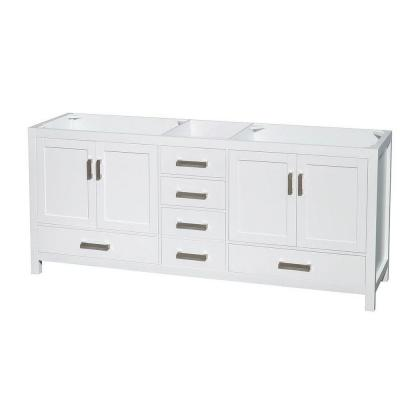 Sheffield 78.5 in. Double Vanity Cabinet Only in White