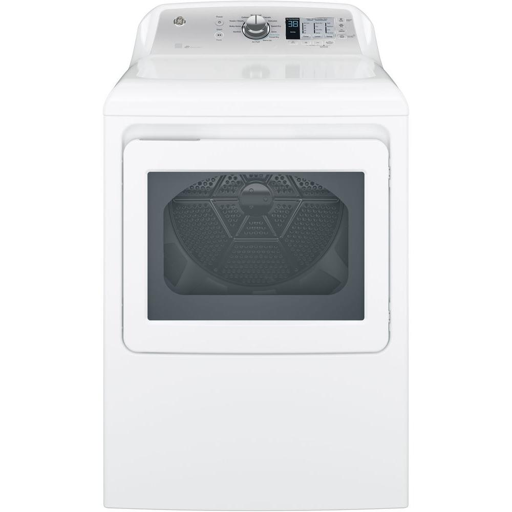 Ge 7 4 Cu Ft 120 Volt White Gas Vented Dryer Energy