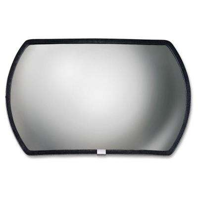Round Rectangular Glass Convex Mirror