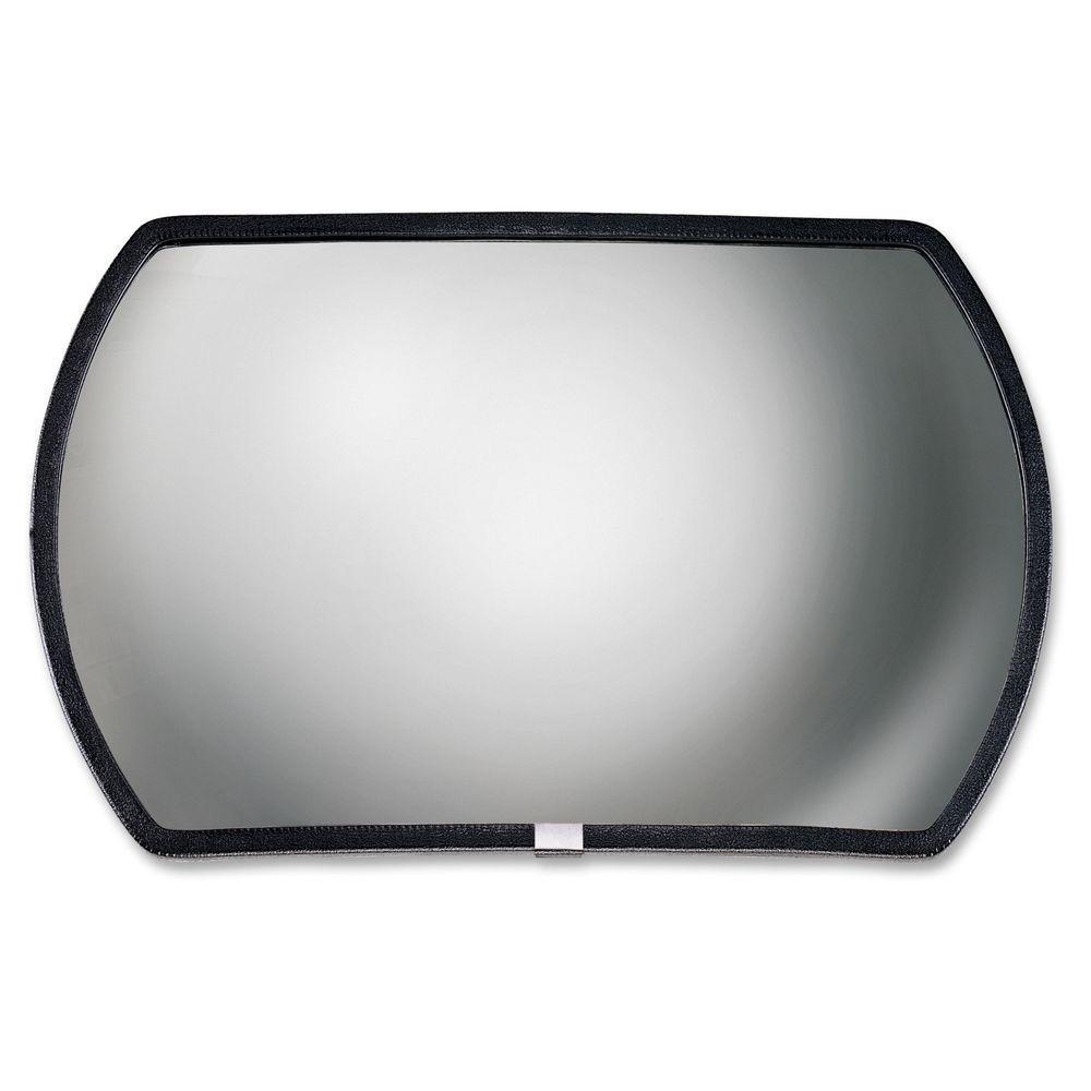 Round Rectangular Glass Convex Mirror