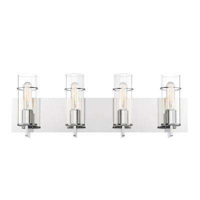 Pista 4-Light Chrome Bath Light