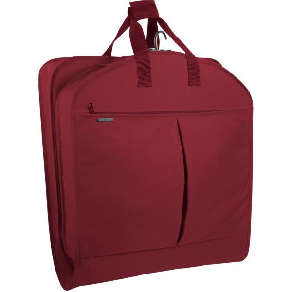 WallyBags 40 in. Red Suit Length Carry-On Garment Bag with 2-Pockets