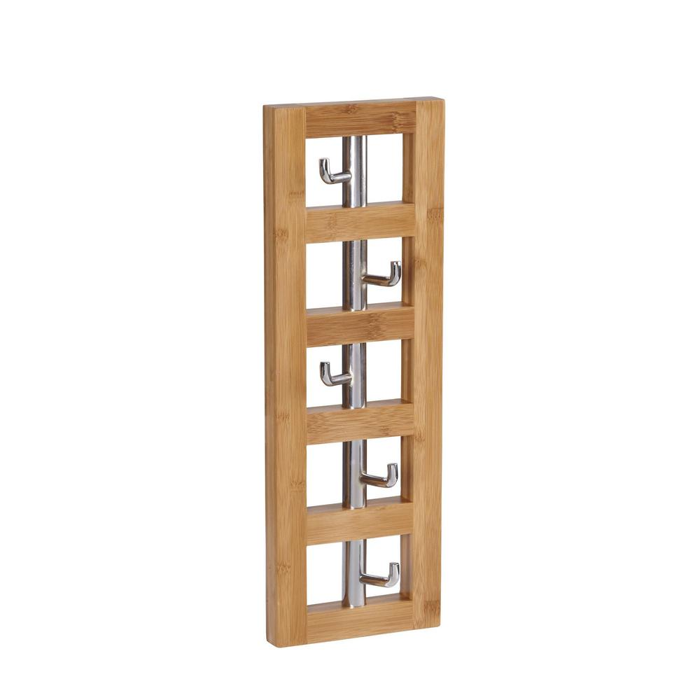 Household Essentials Wall Decor 5 Hook Vertical In Natural