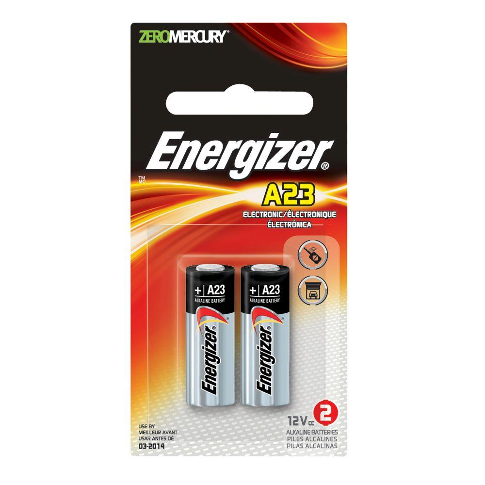 Energizer A23 2pk Alkaline Battery A23bpz 2 The Home Depot