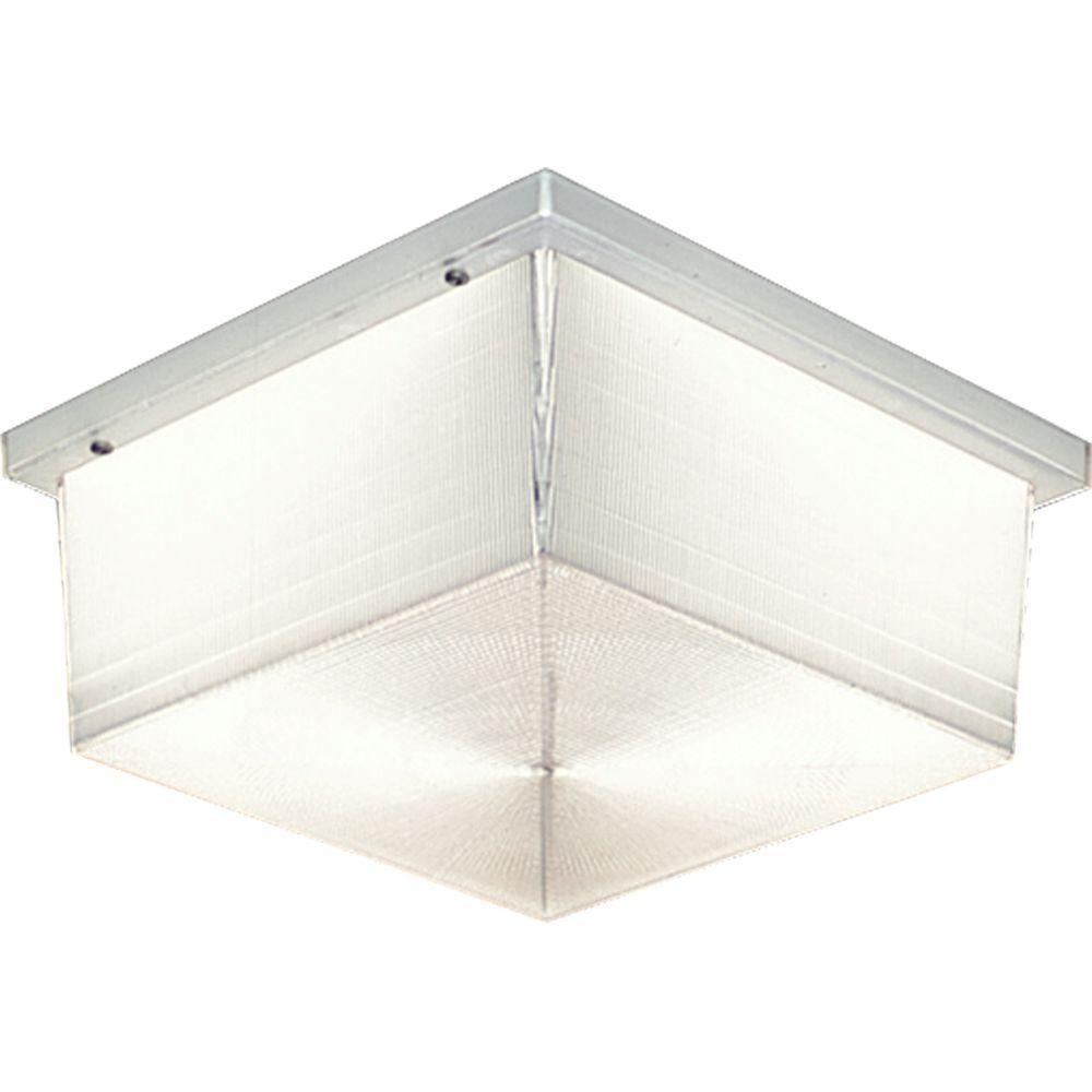 Progress Lighting Hard-Nox Collection 2-Light Outdoor White Wall Lantern
