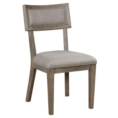 Tazim Rustic Gray Upholstered Dining Chair (Set of 2)