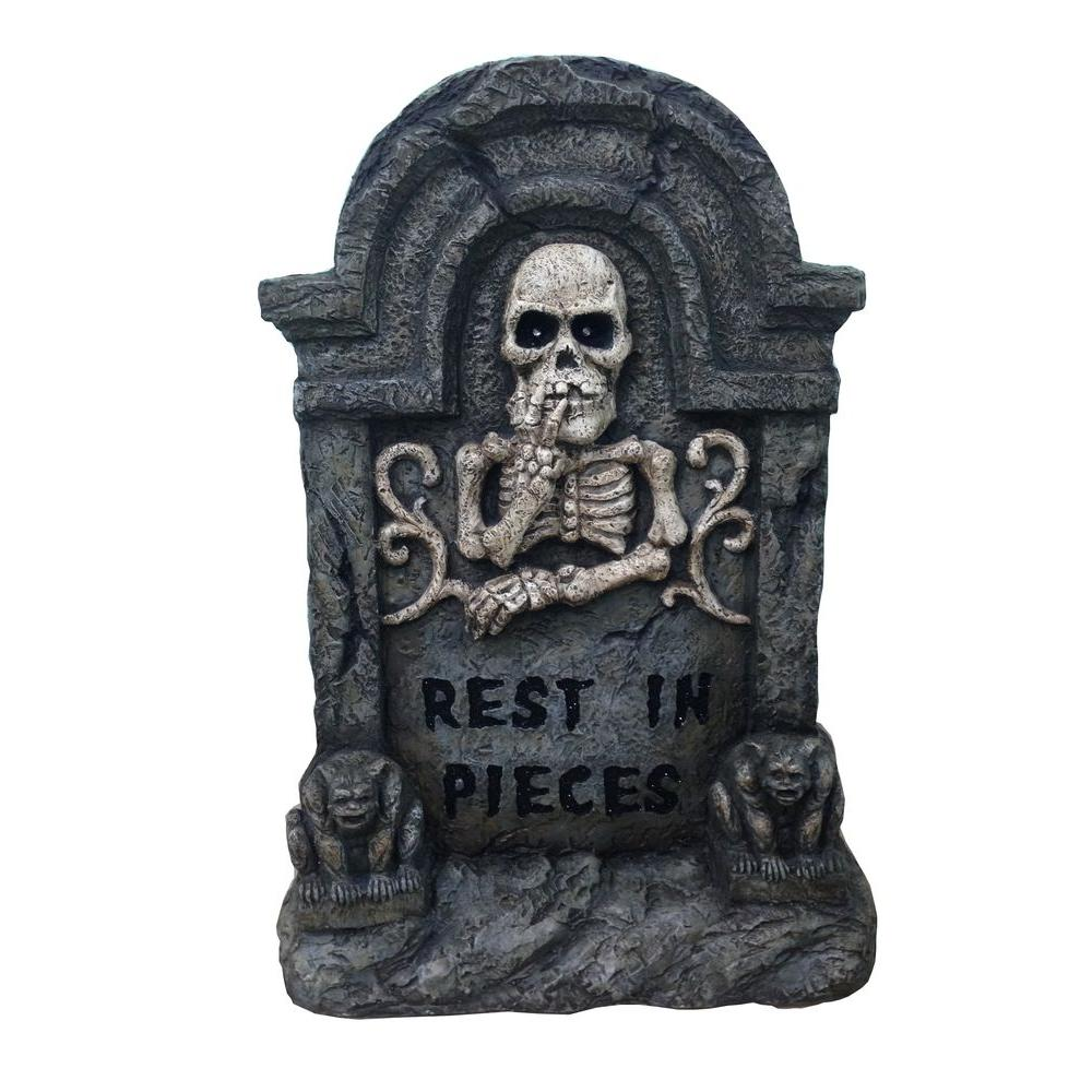 Home Accents 22 In Halloween Rip Tombstone Lh4002 The Home Depot