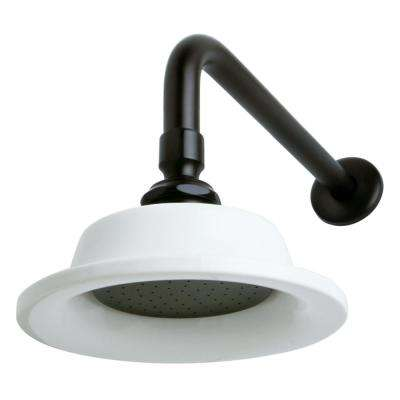 Sunflower 1-Spray 6.3 in. Showerhead with Shower Arm in Oil Rubbed Bronze