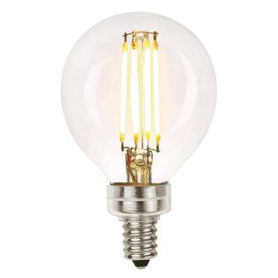 60W Equivalent Soft White G16-1/2 Dimmable Filament LED Light Bulb