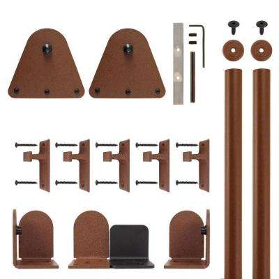 Triangle New Age Rust Rolling Door Hardware Kit for 3/4 in. to 1-1/2 in. Door