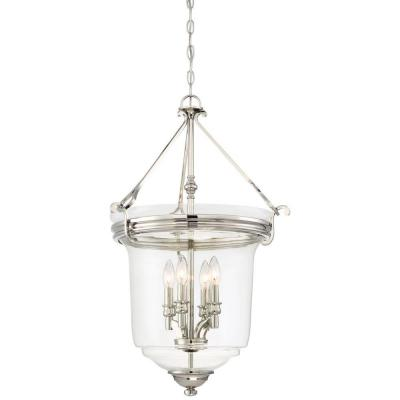 Audreys Point 4 Light Polished Nickel Pendant
