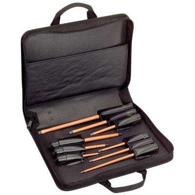 9-Piece Assorted Insulated Screwdriver Set with Carrying Case
