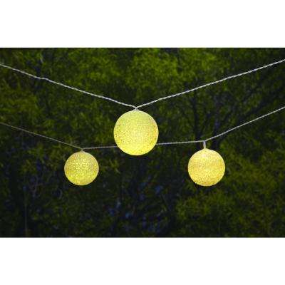 Rope and string lights outdoor specialty lighting outdoor solar integrated led 10 head string light workwithnaturefo