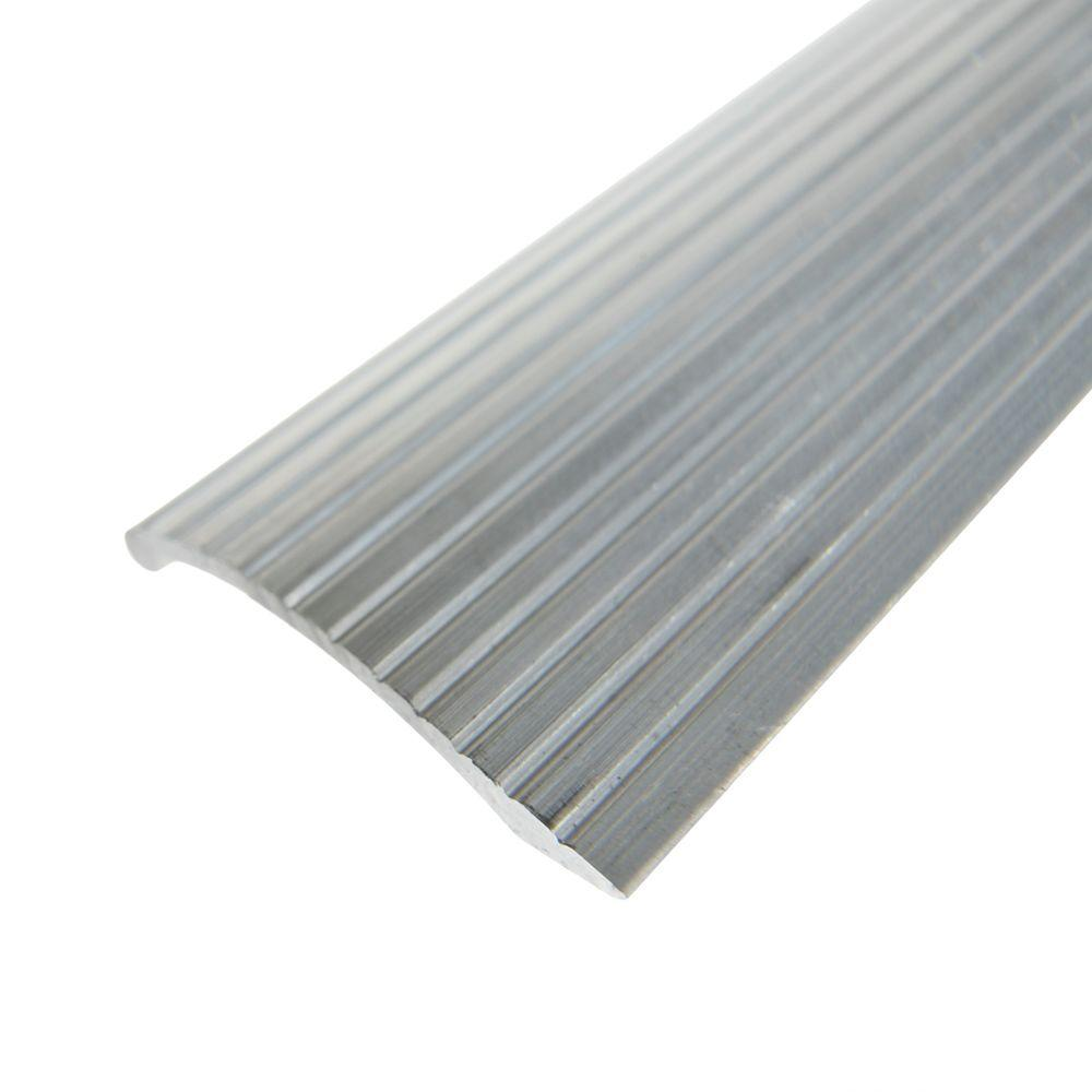 Trafficmaster Silver Fluted 36 In X 2 In Carpet Trim