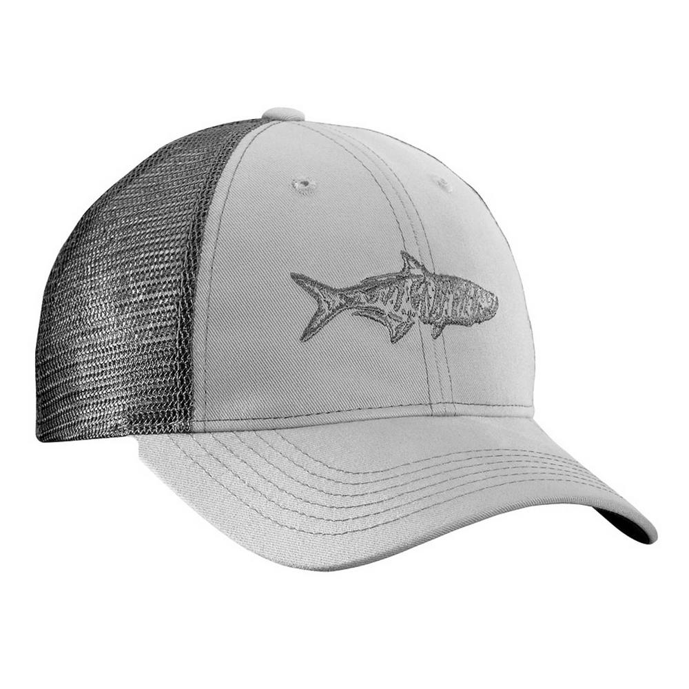 065123b697721 Flying Fisherman Tarpon Trucker Hat Gray and Charcoal-H1736 - The ...