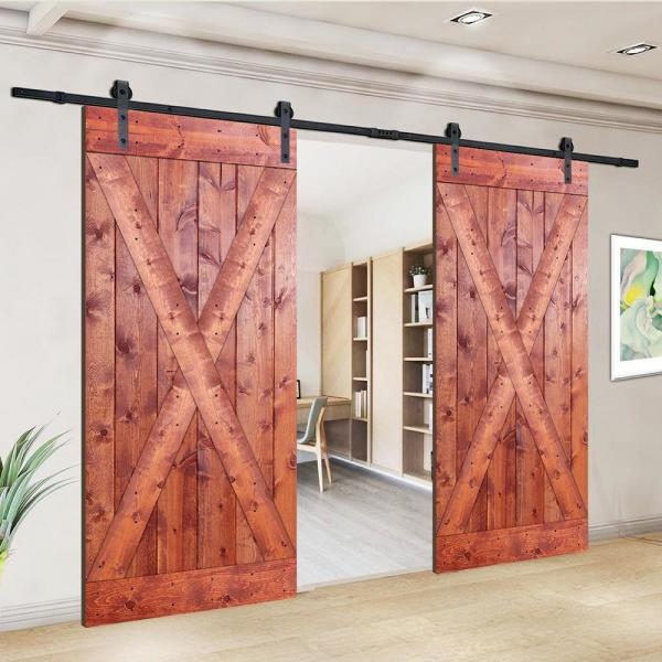 Akicon D2x Series 76 In X 84 In 12 Panel Ro Painted Wood Sliding Door Without Installation Hardware Kit Jm D2x Ro 76 The Home Depot