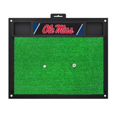 NCAA University of Mississippi Ole Miss 17 in. x 20 in. Golf Hitting Mat