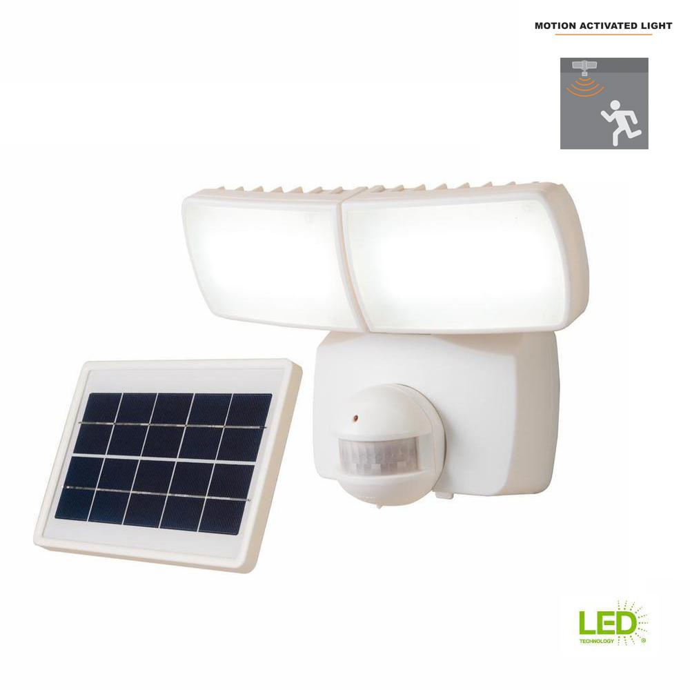 Defiant 180 Degree White Motion Activated Outdoor Solar