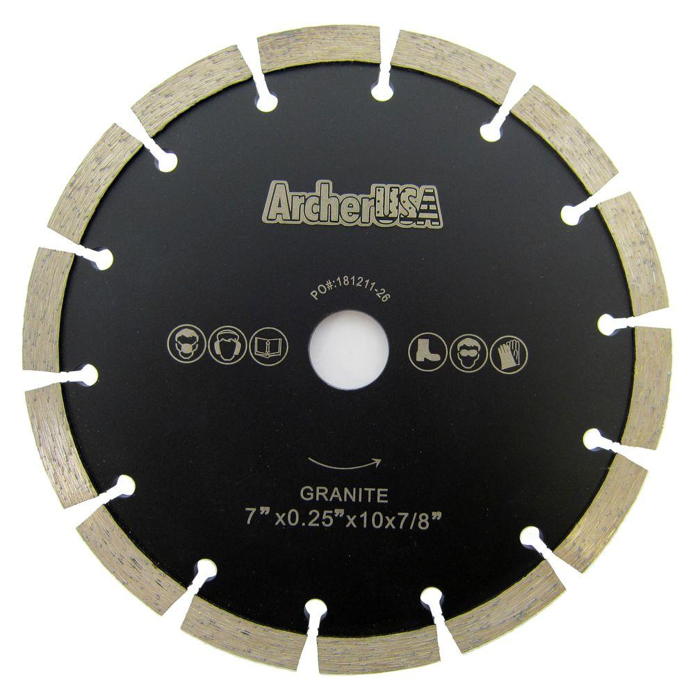 7 in. Tuck Point Diamond Blade for Mortar Removal and Grooving