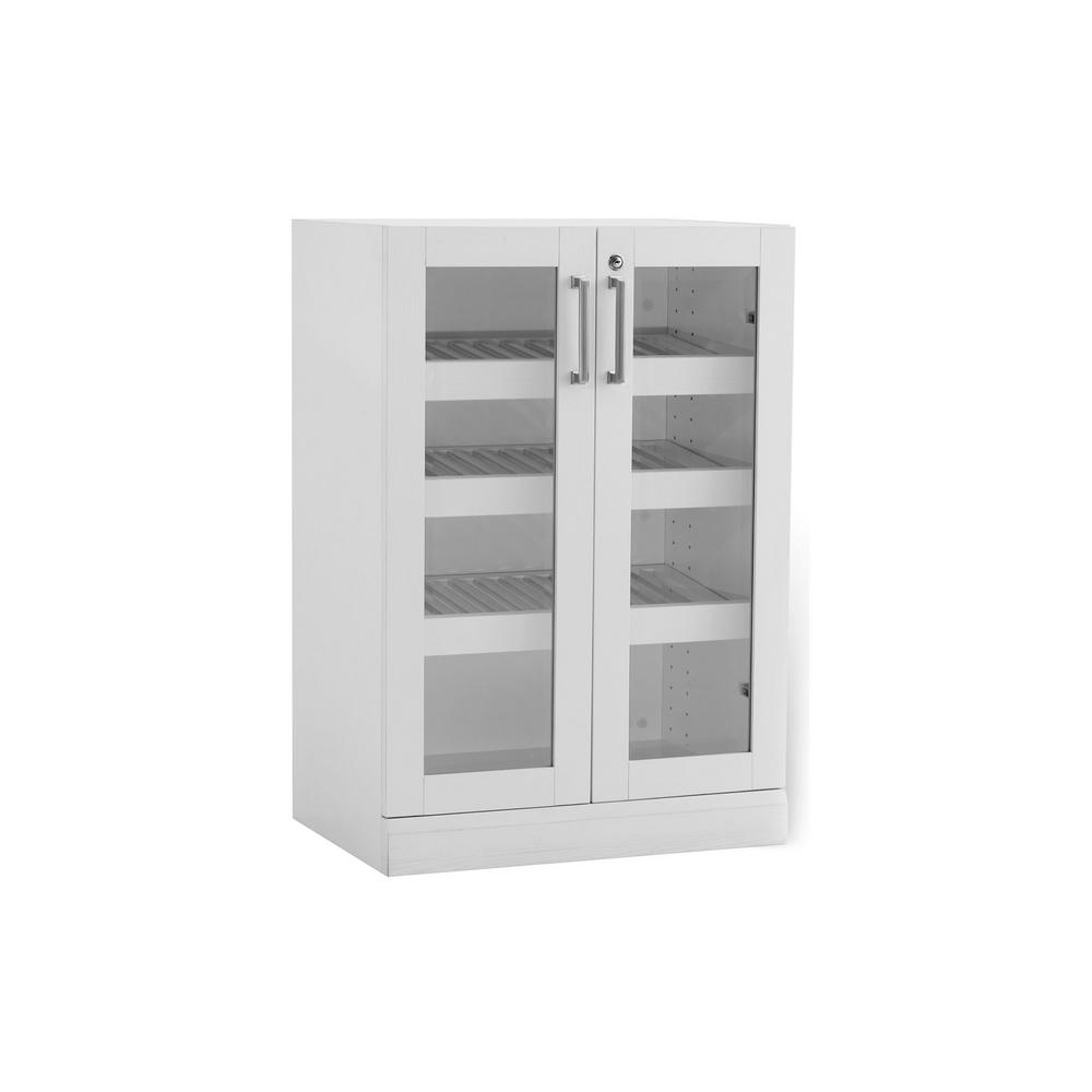 NewAge Products Home Bar White 16 in. Display Cabinet-60010 - The ...