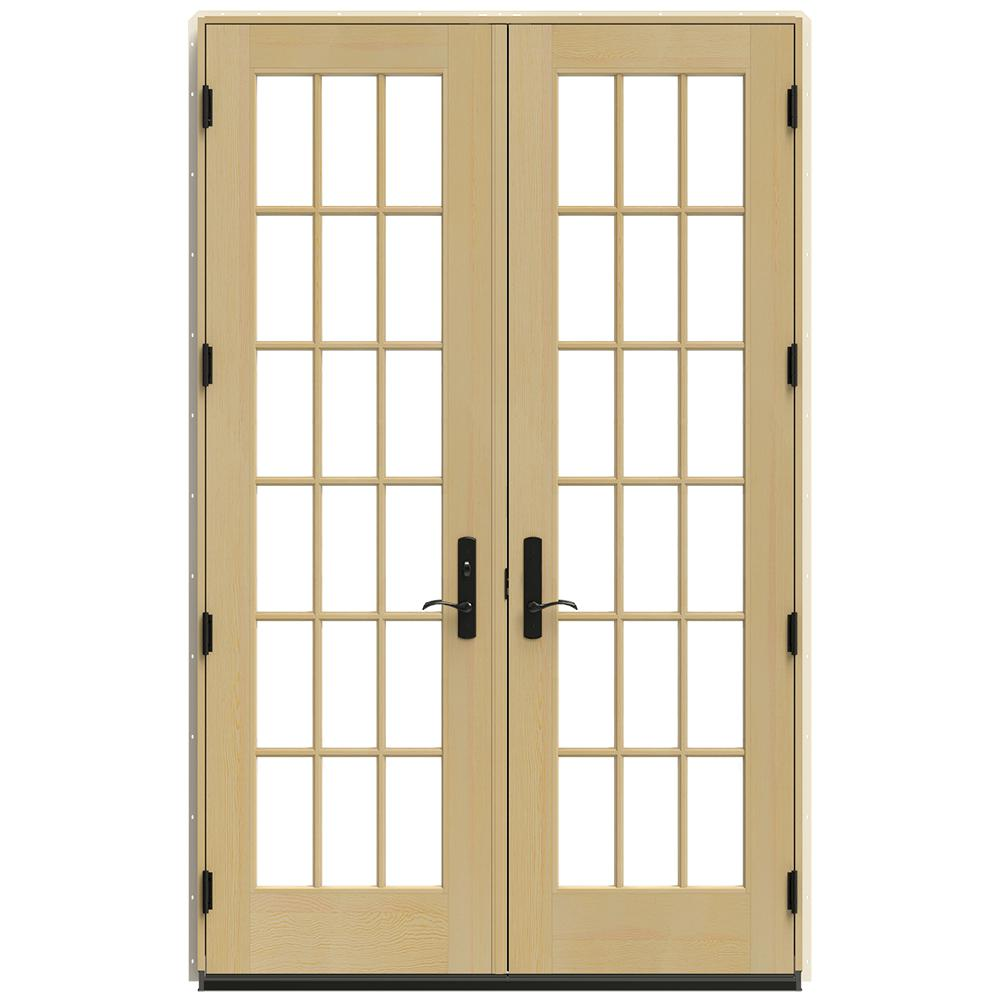 Jeld Wen 60 In X 96 In W 4500 Vanilla Clad Wood Right