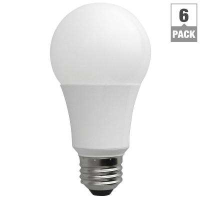 60W Equivalent Soft White A19 Non-Dimmable LED Light Bulb (6-Pack)