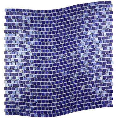 Constellation Wavy Purple 11.7 in. x 11.7 in. x 3.20 mm Glass Mosaic Tile